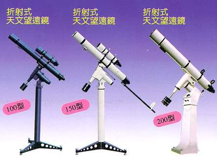 全文仅对通常使用的天文科普望远镜作了简单介绍