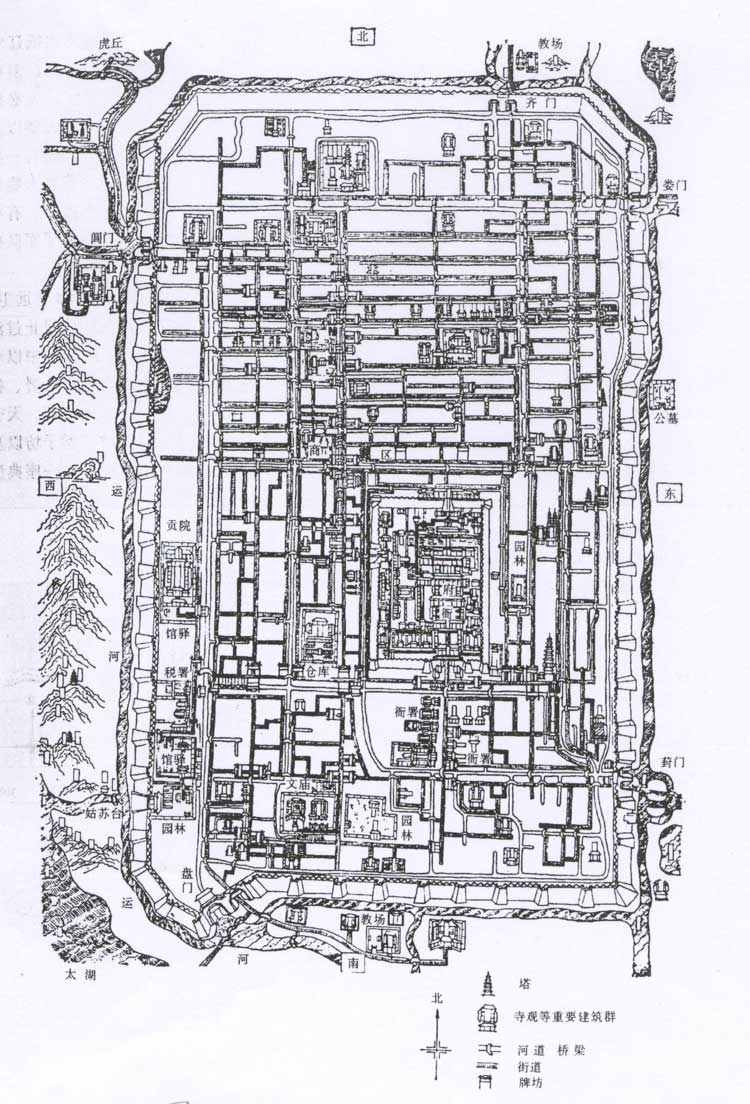 苏州博物馆平面图黑白可手绘