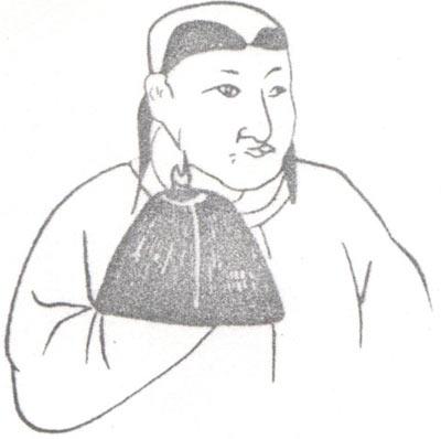 见于内蒙古库伦旗7号辽墓壁画.