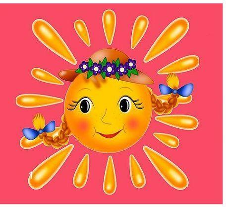 儿童创意画太阳